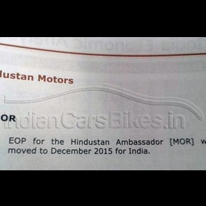 Production of Tata Safari, Indica and Hindustan Ambassador to end by 2015