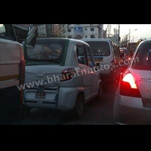 Spy Shots - Bajaj RE60 caught testing in Pune traffic, looks production ready