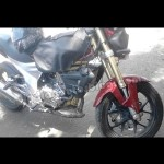Spy Shots - Mahindra's 300cc Mojo spotted in Pune, nearing production