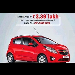 Chevrolet Beat celebrates 3rd anniversary in India with discount of Rs. 50,000/-
