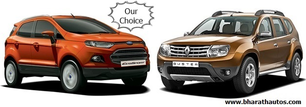Ford EcoSport VS Renault Duster - FrontView