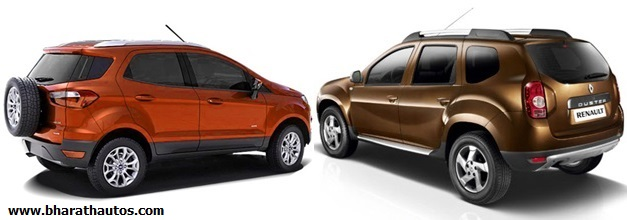 Ford EcoSport VS Renault Duster - RearView