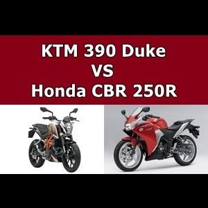 KTM Duke 390 & Honda CBR 250R