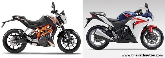 KTM 390 Duke VS Honda CBR 250R - SideView