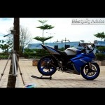 Yamaha V-Ixion modified to an Indian Race Blue Color YZF-R15 in Indonesia
