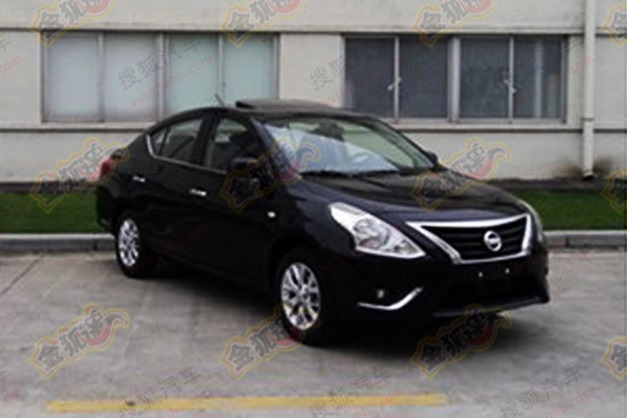 2014-Nissan-Sunny(Black)-facelift-Frontview