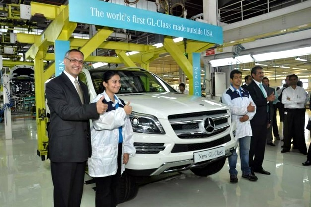 Mercedes benz india begins ckd assembly of gl class at for Mercedes benz manufacturing plant in usa