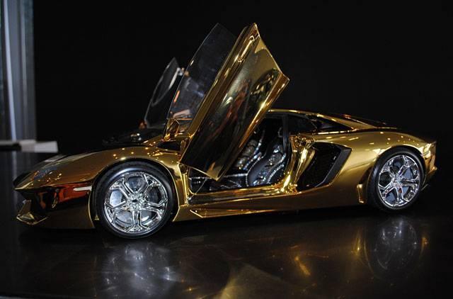 46 Crore rupees Gold Lamborghini Aventador awaits new ...