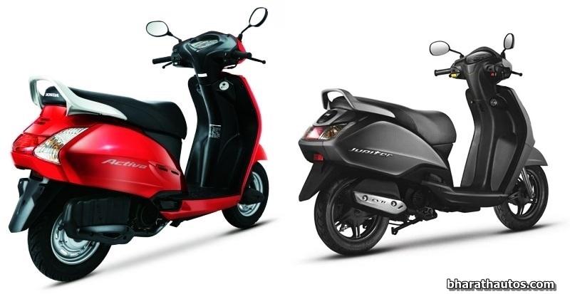Honda Activa Vs Suzuki Access Vs Tvs Jupiter