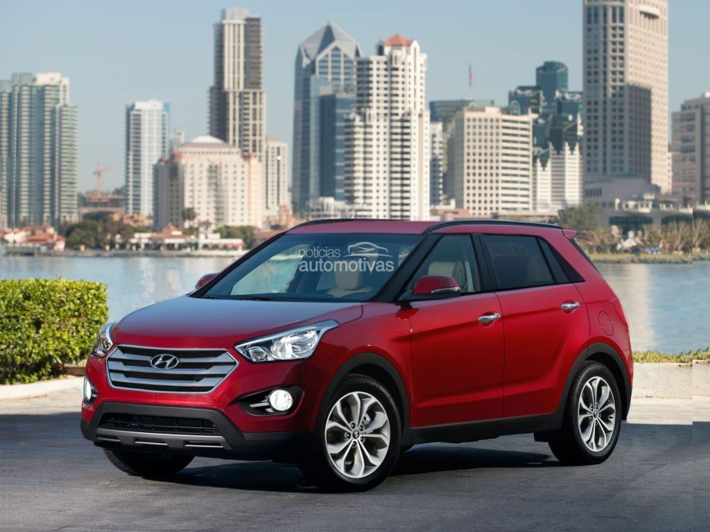 Hyundai compact suv frontview speculated rendering