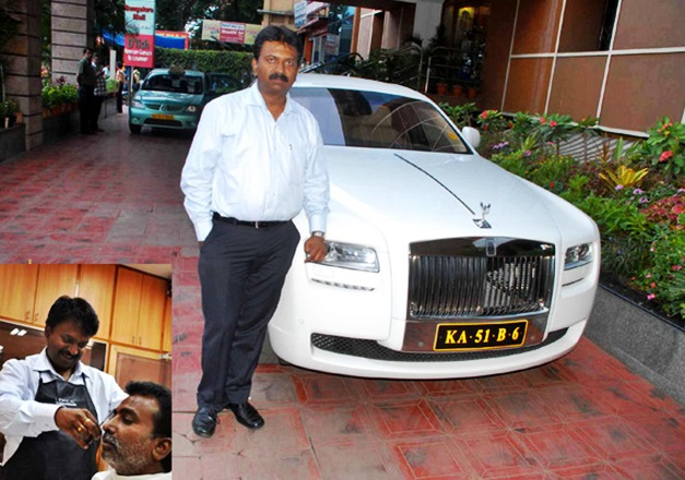 Bangalore S Billionaire Barber Owns Rolls Royce Ghost Other Cars