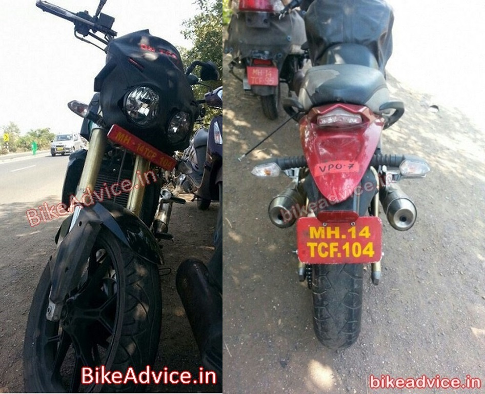 Spy shots mahindra mojo with updated design spotted in pune
