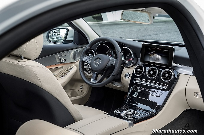 New mercedes benz c class 2015 revealed prior to launch at detroit motor show - 2014 mercedes c class interior ...