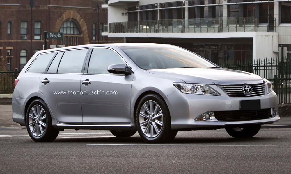 Photo renderings what the toyota camry could look like being station wagon