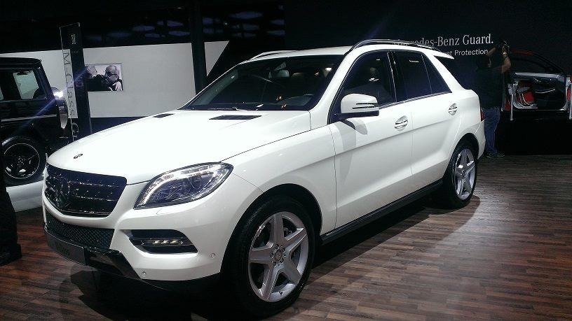2014 auto expo mercedes ml500 guard launched cla 45 amg unveiled. Black Bedroom Furniture Sets. Home Design Ideas
