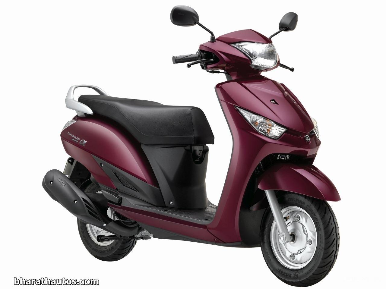 2014 auto expo yamaha alpha 110 scooter officially