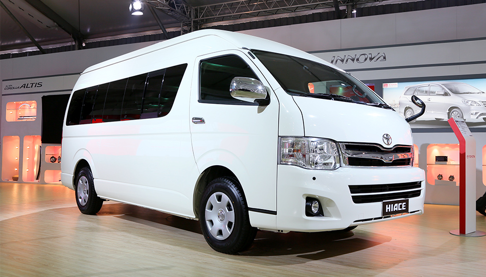were displayed at the auto expo by toyota toyota hiace