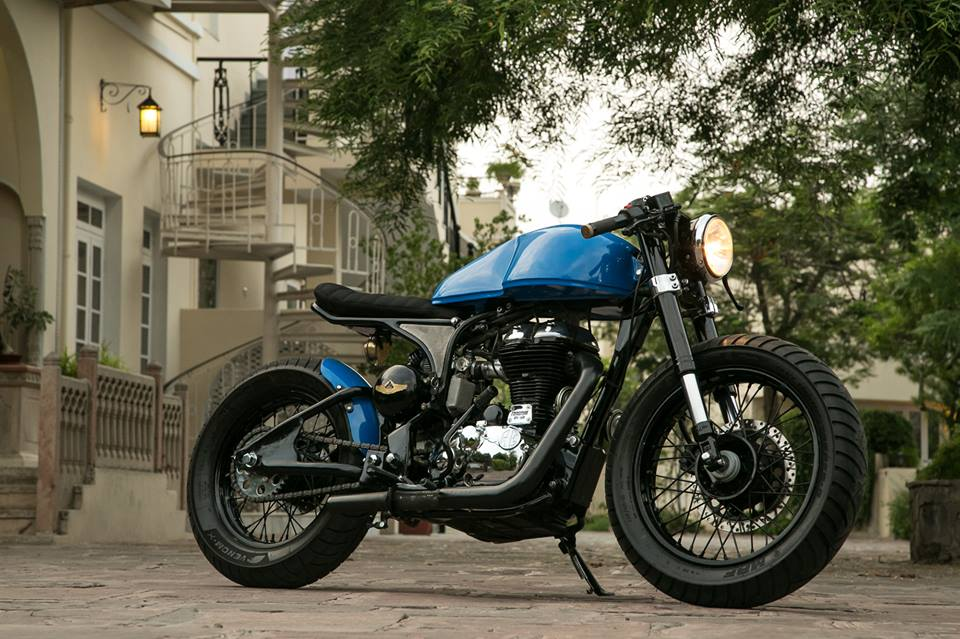 rcm guys' build an amazing cafe racer using 500cc enfield