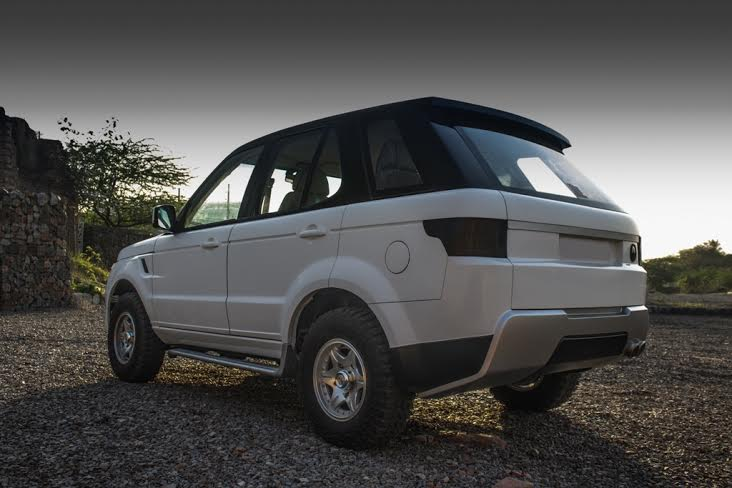 Modified Tata Safari RearView