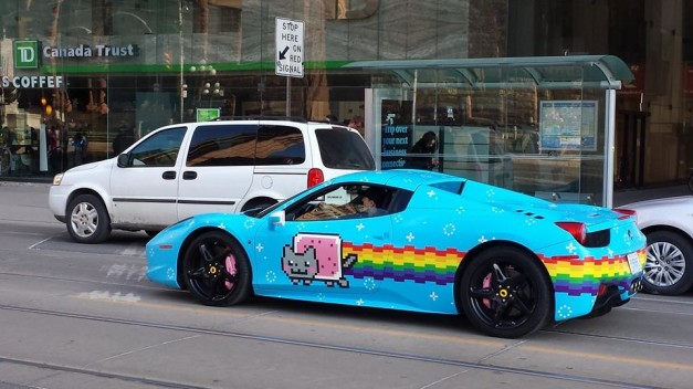 deadmau-nyan-cat-ferrari-458-spider