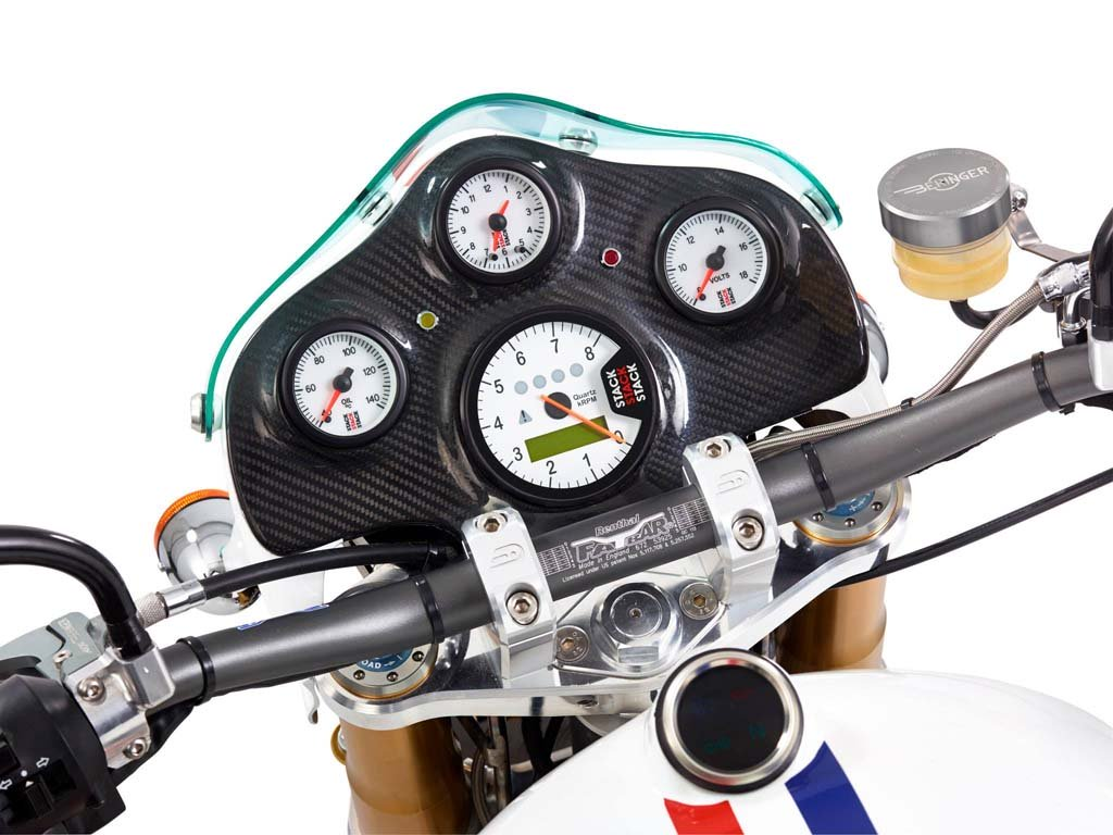 Motorcycle Instrument Panel : One of its kind motorbike hesketh built for riders