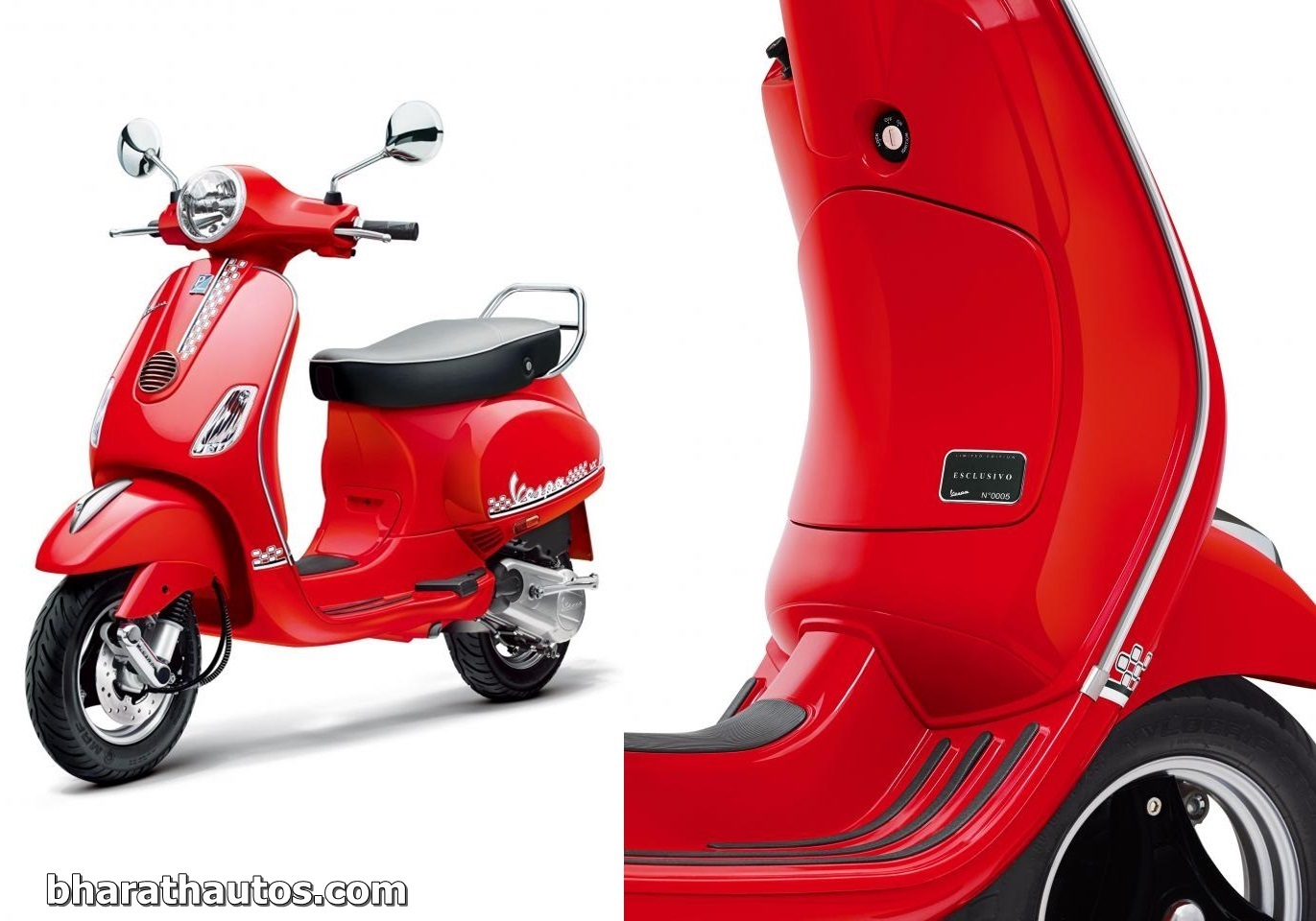 piaggio india launches vespa esclusivo limited edition - rs. 81,786/-