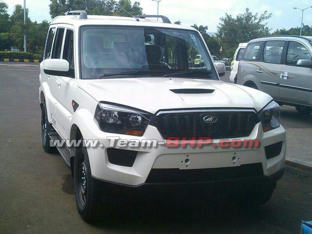 Mahindra scorpio facelift frontview