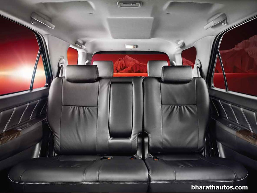 2015 updated toyota fortuner 4x4 at rear seat
