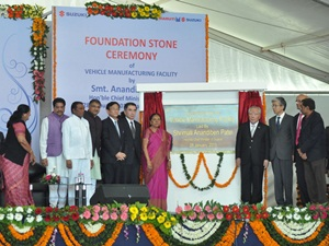 maruti-suzuki-foundation-stone-ceremony-hansalpur-gujarat
