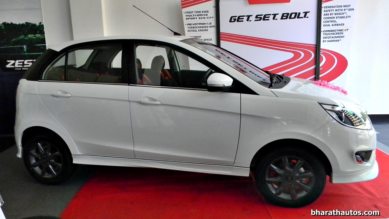 tata bolt snapped with a customized body kit at dealership in mangalore. Black Bedroom Furniture Sets. Home Design Ideas