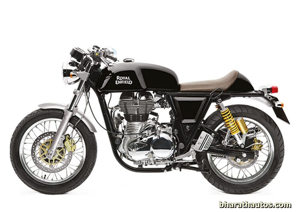 royal enfield continental gt now available in gt black colour. Black Bedroom Furniture Sets. Home Design Ideas