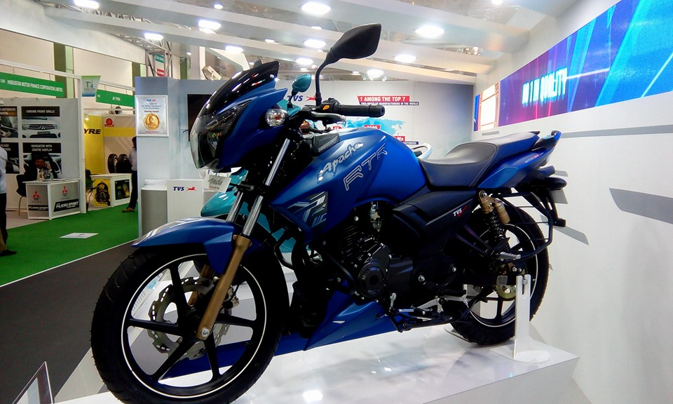 Tvs Apache Rtr 160 Comes With A New Matte Blue Colour
