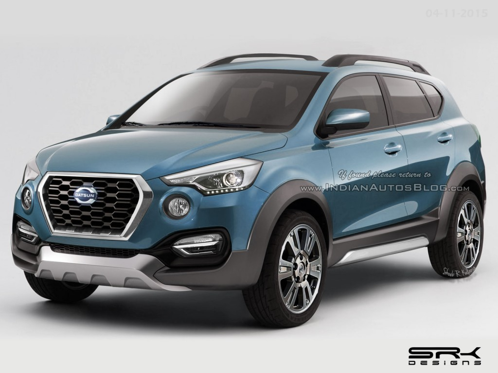 Datsun Go-Cross rendered in production form, India launch ...