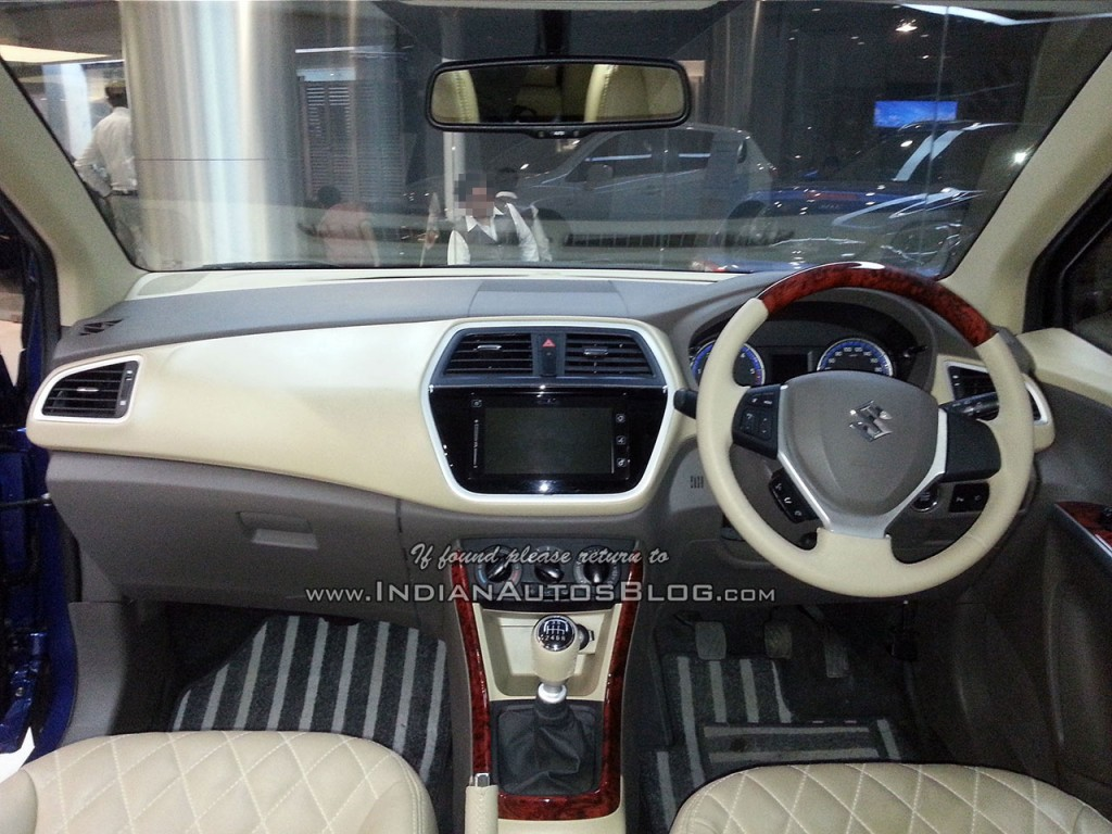 dealers offer dual tone interior wood finish on maruti suzuki s cross. Black Bedroom Furniture Sets. Home Design Ideas