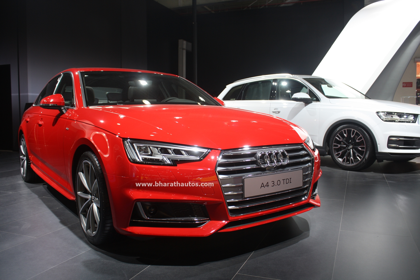 new 2016 audi a4 gets showcased for india 2016 auto expo. Black Bedroom Furniture Sets. Home Design Ideas