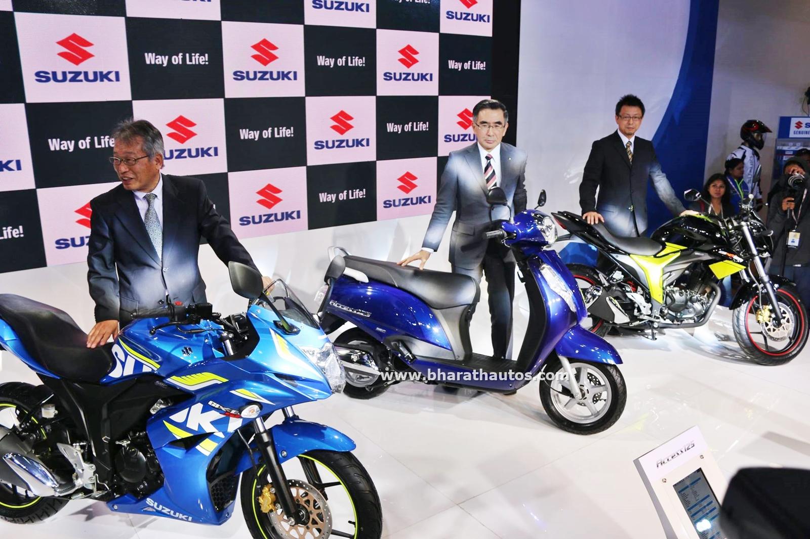 Suzuki quadsport z400 reviews prices and specs autos weblog suzuki - Suzuki Motorcycles India 2016 Auto Expo Pictures Photos