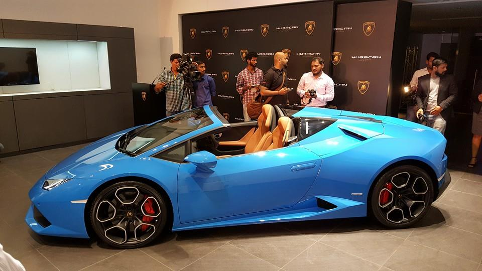 lamborghini huracan spyder now in india from rs crore. Black Bedroom Furniture Sets. Home Design Ideas