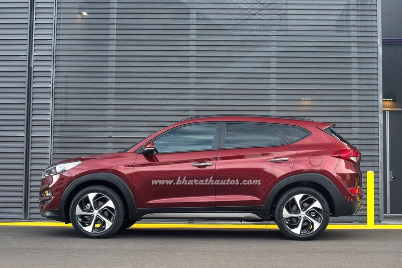 spied 2016 hyundai tucson ahead of india launch. Black Bedroom Furniture Sets. Home Design Ideas