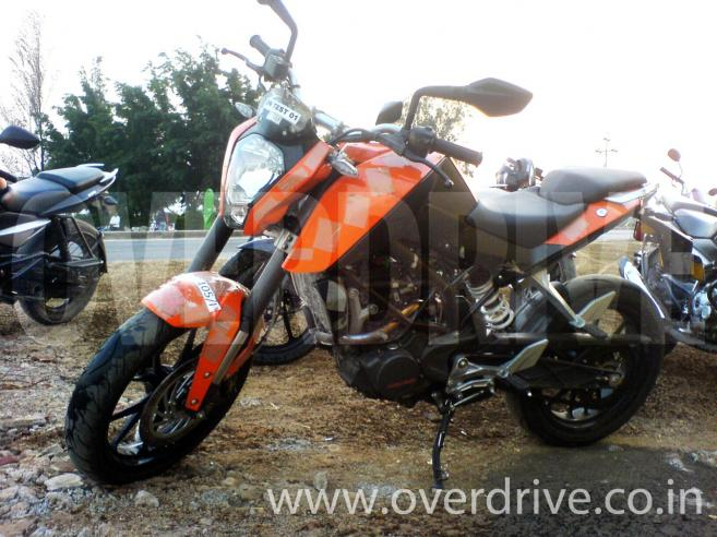 KTM Duke being tested