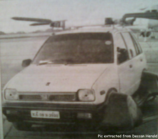 Hyped Flying Maruti 800