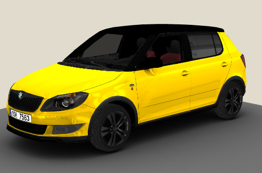Skoda Fabia Monte Carlo Sprint Yellow