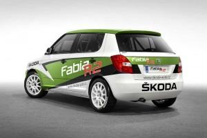 2011 Skoda Fabia R2 Rally Car Rear