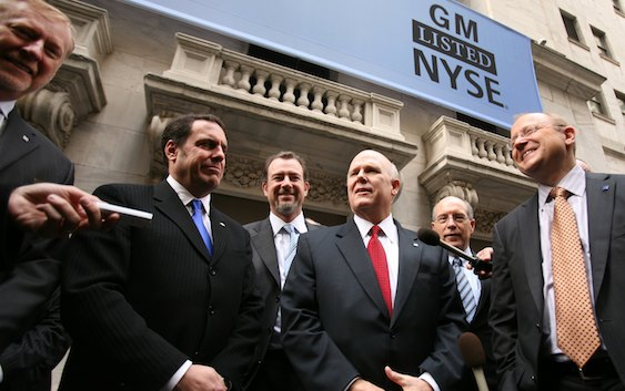 GM CEO Dan Akerson at New York Stock Exchange
