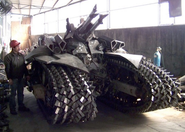 Megatron Tank Crafted From Scrap Metal