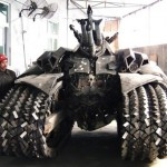 Megatron Tank Crafted From Scrap Metal 004