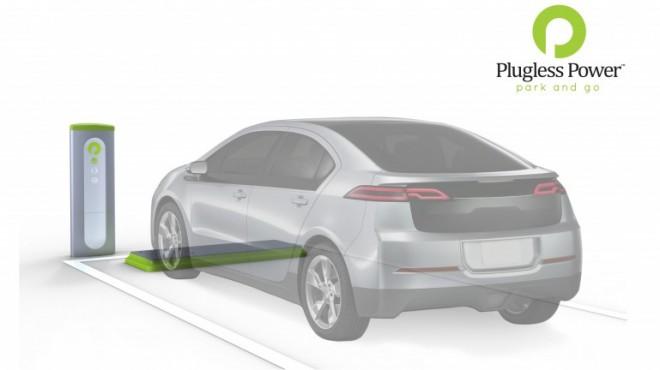 Chevrolet Volt using hands-free Plugless Power