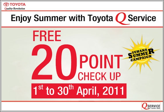 Toyota Suhana Summer Service Campaign Launched
