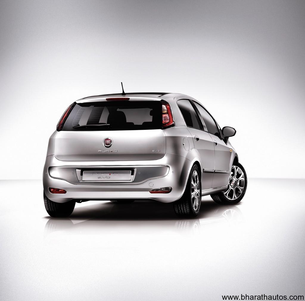 Fiat Punto Evo Silver Rear Bharathautos Automobile News Updates 2014