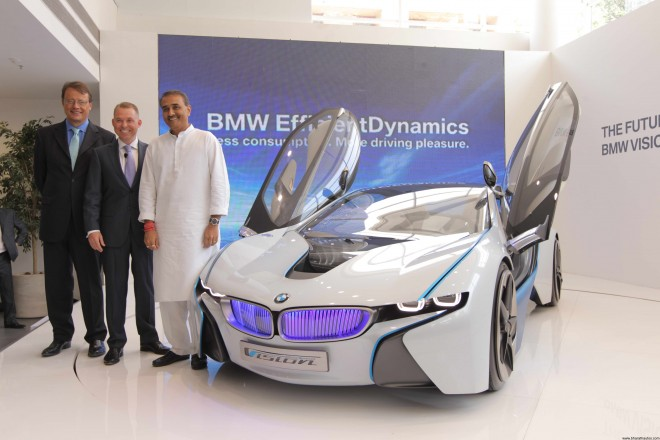 BMW Vision EfficientDynamics concept car unveiled by Mr. Praful Patel in Delhi