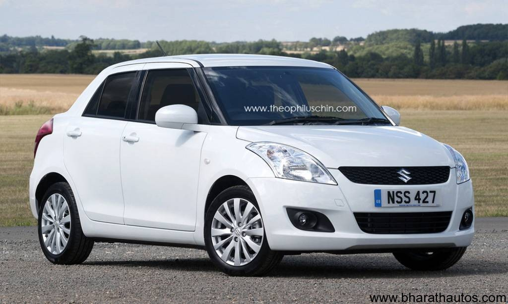 2012 Maruti Suzuki Swift Dzire Rendered Pictures